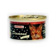 Amora Diamond Katze Herz und Hühnerleber (Szív és csirkemáj) 85g