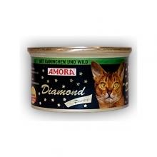 Amora Diamond Katze Kaninchen und Wild (Nyúl és vadhús) 85g