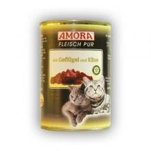 Amora Fleisch Pur Katze Geflügel und Käse (Szárnyas hússal és sajttal) 400g