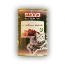 Amora Fleisch Pur Katze Lachs und Makrele (Lazaccal és makrélával) 400g