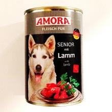 Amora színhús konzerv idős kutyáknak báránnyal 400g
