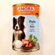 Amora Sensitive színhús konzerv pulyka és rizs 400g